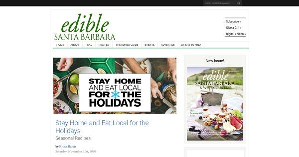 Edible Santa Barbara pays food writers for freelance writing gigs