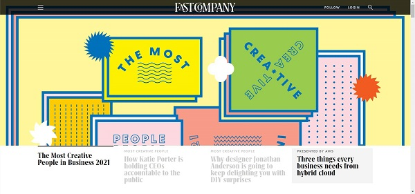 Fast Company magazine pays writers for freelance tech writing jobs