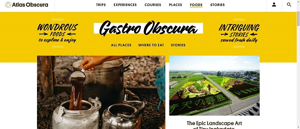 Gastro Obscura blog pays writers for freelance food writing jobs