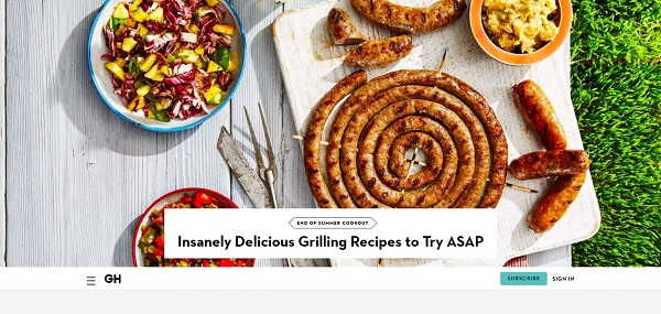 Good Housekeeping magazine and blog pay freelance writers for food writing jobs