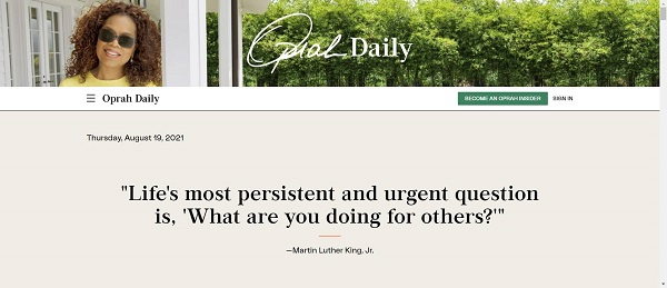 Oprah daily blog pays freelance writers for food writing jobs