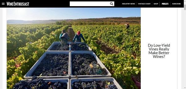 Wine Enthusiast magazine hires freelance writers for wine writing jobs