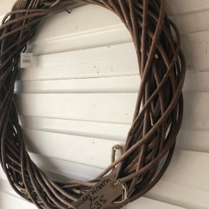 Wicker Wreath Large Round