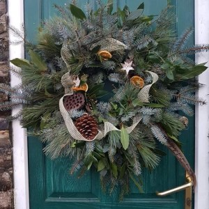 Fresh Xmas Wreath 12″