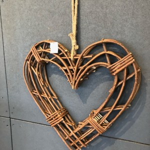Wicker Heart Wreath