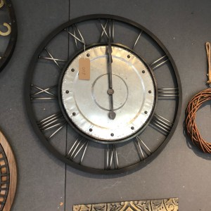Large Metal Clock with Bolt Feature