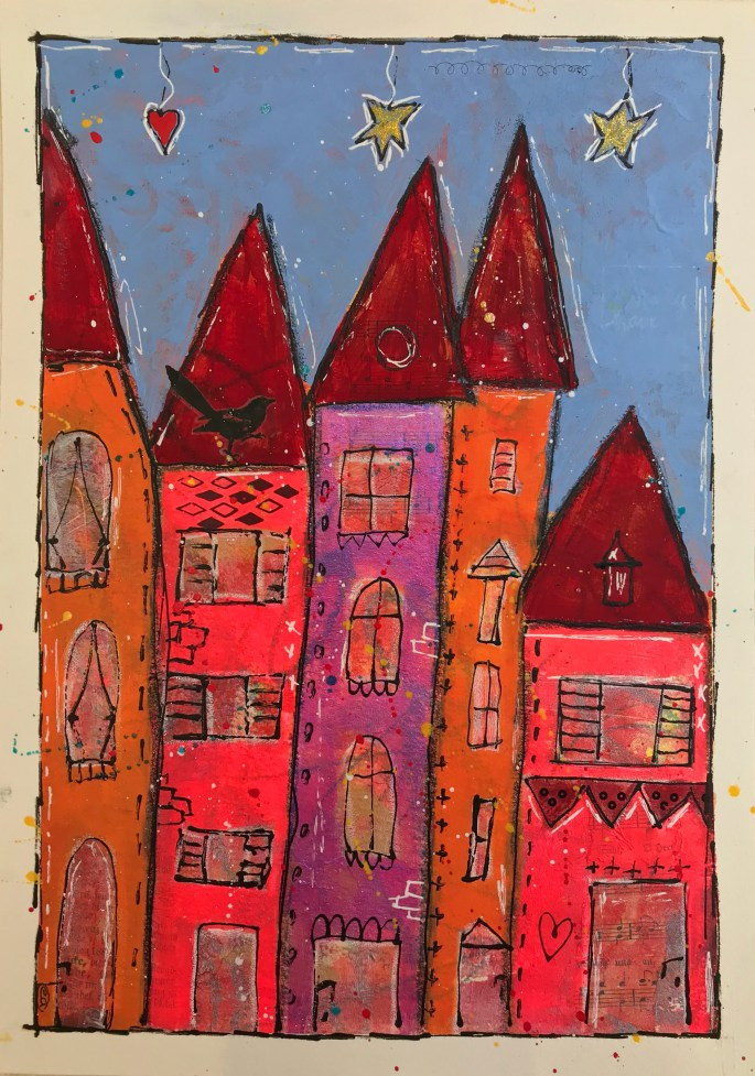 Mixed media houses