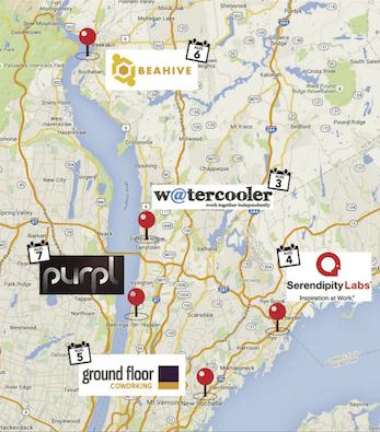 Weschester Coworking Map 2015