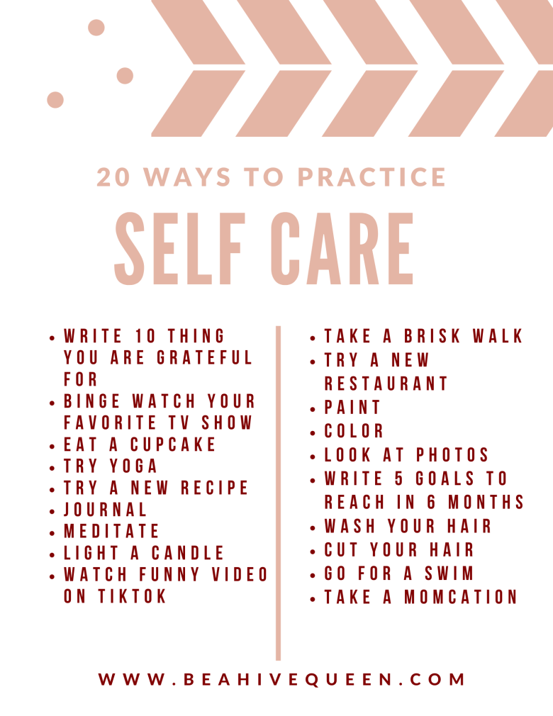 20 Ways to Practice Self Care After Having Kids
