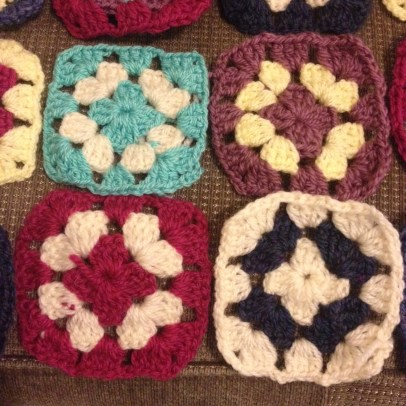 Granny square close uo