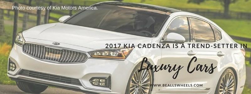 2017 Kia Cadenza is a trend-setter in luxury cars