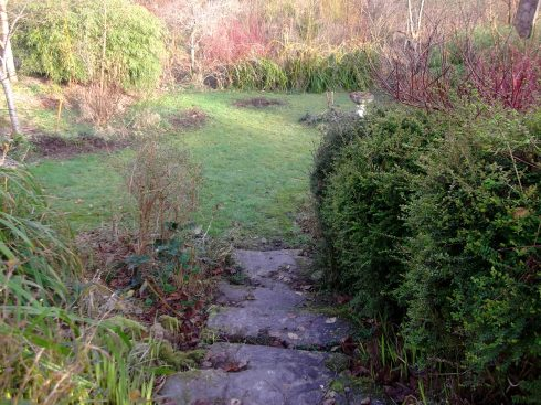 The front steps at Bealtaine Cottage