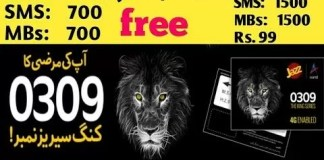 Jazz Warid 0309 King Series Offer