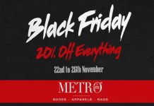 Metro Shoes Black Friday Sale offers upto 20% OFF