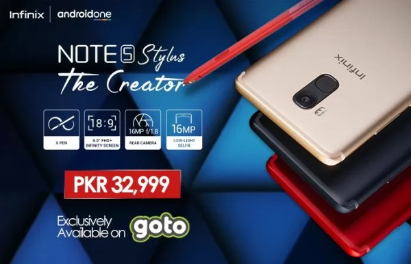 infinix, Infinix Launches the Much Awaited Android One NOTE 5 Stylus in Pakistan