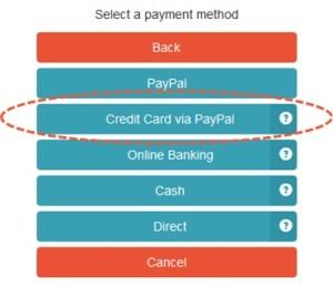 Credit Card via PayPal