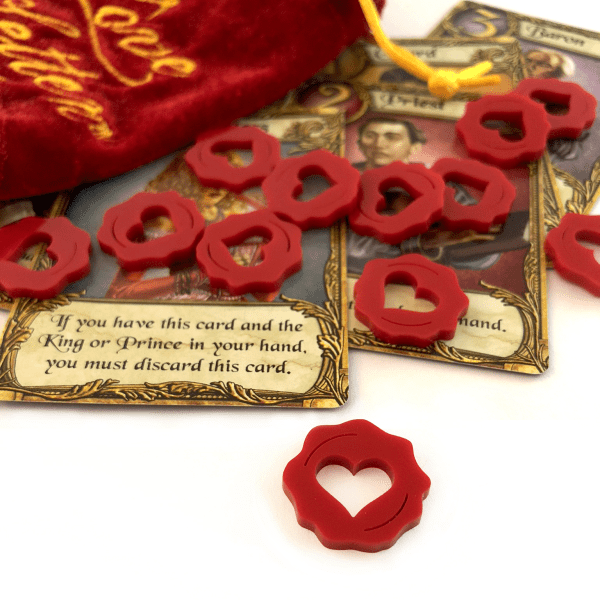 13 red acrylic Love Letter Affection Heart Tokens