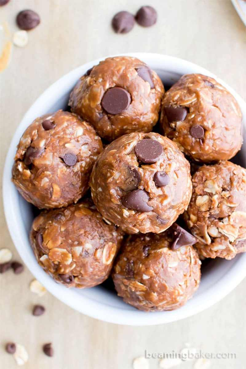 15 Healthy Protein-Packed No Bake Energy Bite Recipes (V, GF): a tasty collection of protein-rich no bake bites made with whole ingredients. #Paleo #Vegan #GlutenFree #DairyFree | BeamingBaker.com