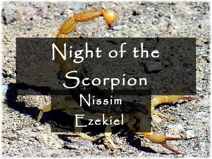 Stanza-wise Summary of The Night of the Scorpion by Nissim Ezekiel