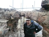 John was very excited at the remains of the dome of the oven still being able to support itself