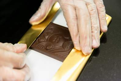 These craft chocolates are wrapped by hand. http://hogarthchocolate.co.nz/
