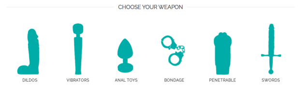 Choose Your Weapon Geeky Sex Toy