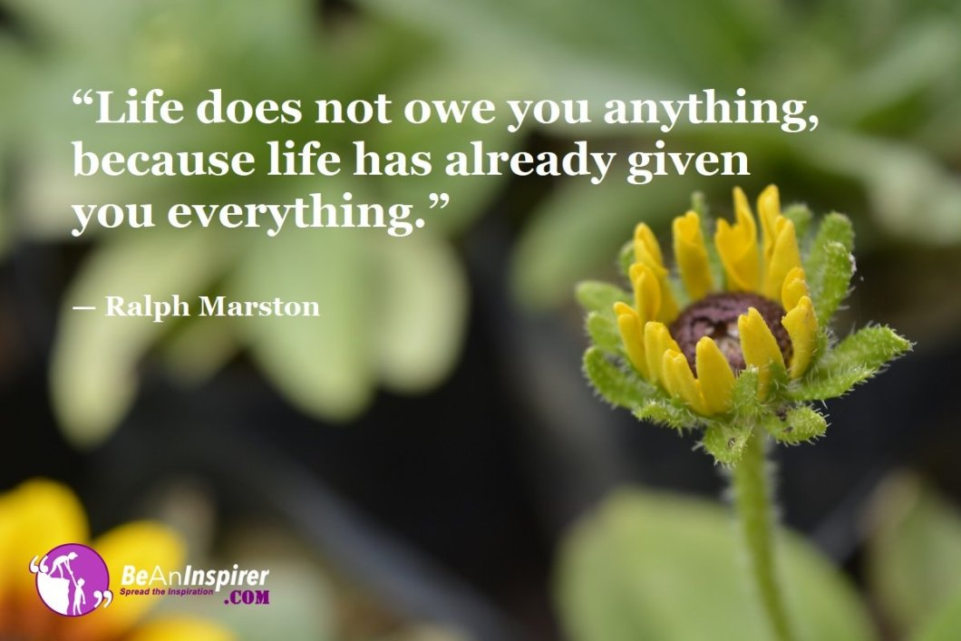 Life-does-not-owe-you-anything-because-life-has-already-given-you-everything-Ralph-Marston-Top-100-Life-Quotes-Be-An-Inspirer