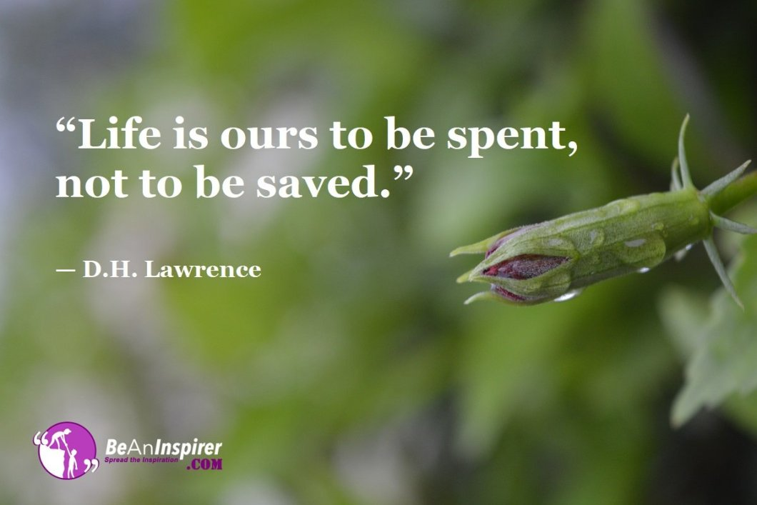 Life-is-ours-to-be-spent-not-to-be-saved-D-H-Lawrence-Top-100-Life-Quotes-Be-An-Inspirer