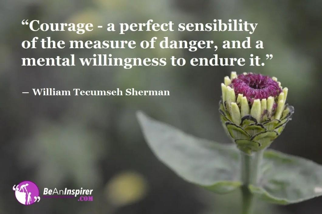 Mental Willingness To Endure Danger