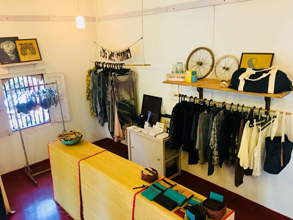 Vegan products: Ethical Clothing and make up at Bean Me Up, Vegan Restaurant in Goa.