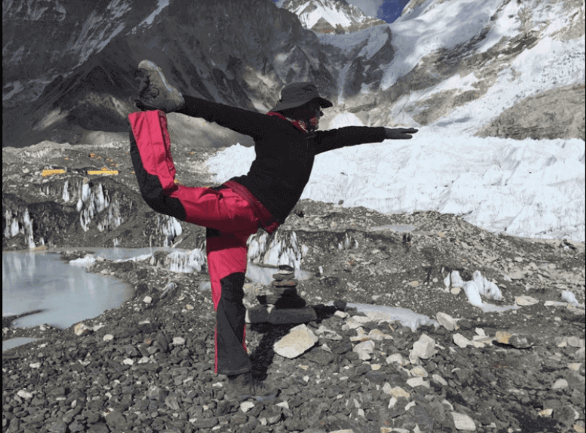 Anna Muir at Mount Everest Basecamp