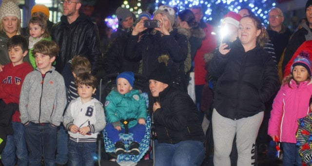 Morecambe sparkles as Christmas lights are switched on