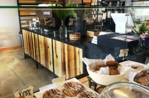 counter and pastry case
