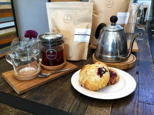 teapot and scone