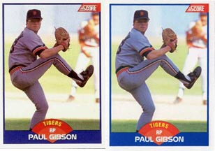 Baseball Card Of The Week 1989 Paul Gibson Score Error 595
