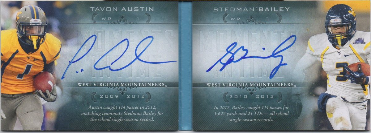 Mailday: 2013 Upper Deck Quantum Moments In Time Tavon Austin/Stedman Bailey #WVU #Rams
