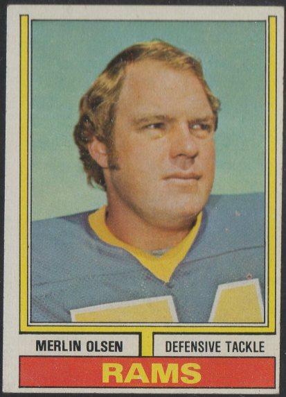 1974 Topps #205 Merlin Olsen