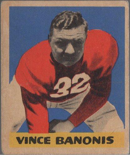 1949 Leaf #38 Vince Banonois