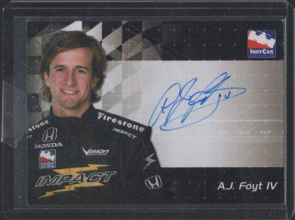 2007 Rittenhouse IRL Autographs #7 A.J. Foyt IV