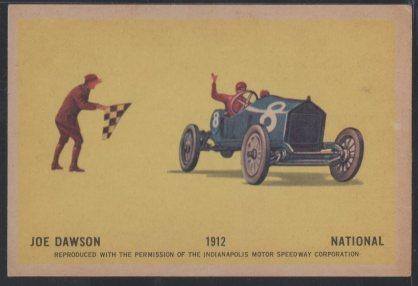 1960 Hawes Wax Indy #2 Joe Dawson