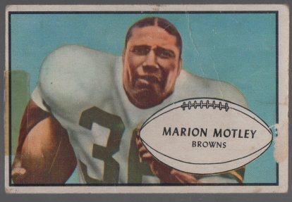 1953 Bowman #9 Marion Motley