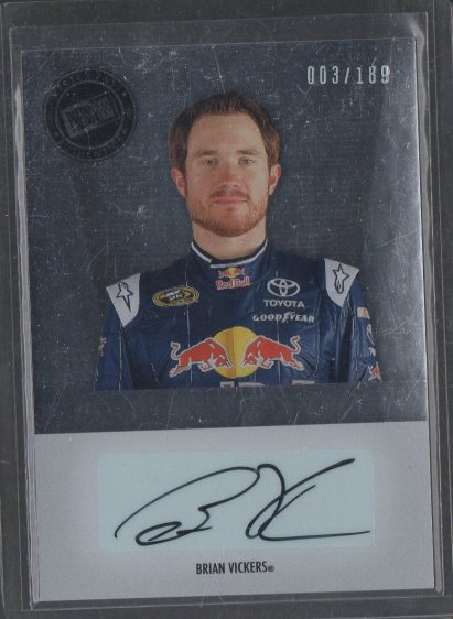 2011 Press Pass Premium Signatures #PSBV Brian Vickers