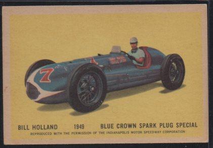 1960 Parkhurst Hawes Wax Indy #33 Bill Holland