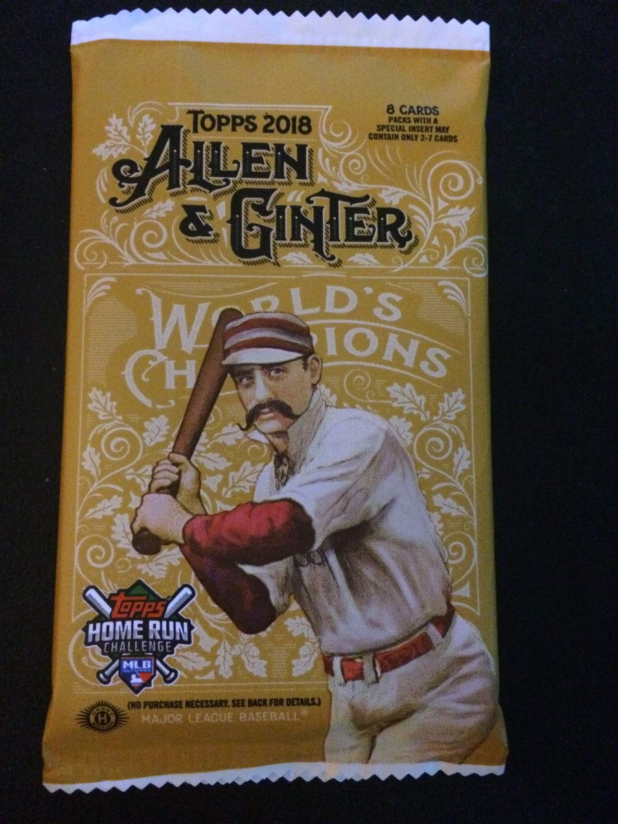 Opening one 2018 Allen & Ginter Hobby pack