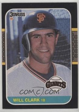 1987 Donruss Will Clark (via COMC)