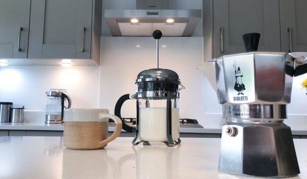 make frothed milk in your cafetiere