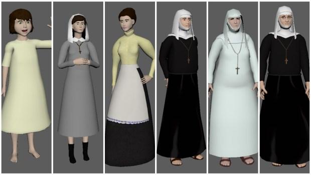 laura and nuns