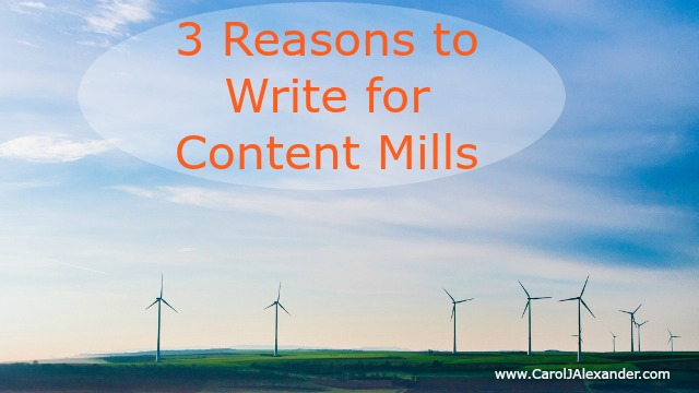 3 Reasons to Write for Content Mills