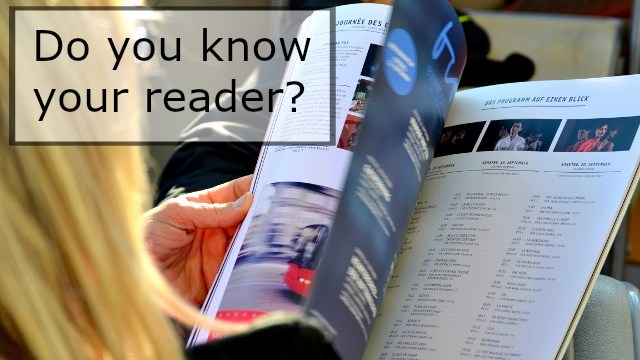 Do You Know Your Reader?