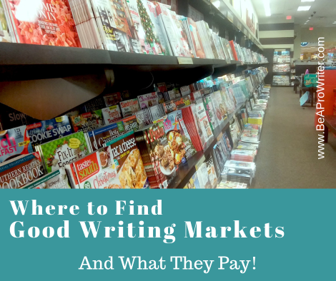 Where to find good writing markets | Be A Pro Writer